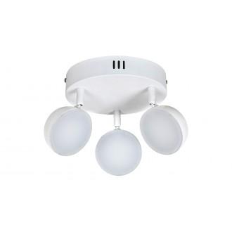 RABALUX 5624 | Hedwig Rabalux spot svietidlo diaľkový ovládač regulovateľná intenzita svetla, nastaviteľná farebná teplota, otočné prvky 3x LED 1050lm 2700 <-> 5000K matný biely