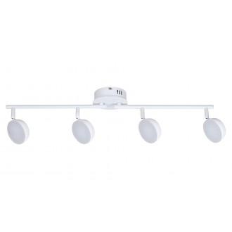 RABALUX 5625 | Hedwig Rabalux spot svietidlo diaľkový ovládač regulovateľná intenzita svetla, nastaviteľná farebná teplota, otočné prvky 4x LED 1400lm 2700 <-> 5000K matný biely