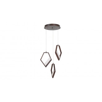 RABALUX 5643 | Silvana Rabalux visiace svietidlo 1x LED 3600lm 3000K metalovo hnedá