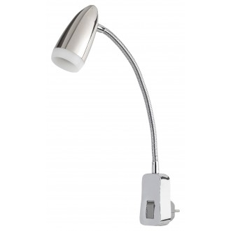 RABALUX 5658 | Alma-RA Rabalux konektorové svietidlo svietidlo prepínač flexibilné 1x LED 350lm 3000K chróm, biela