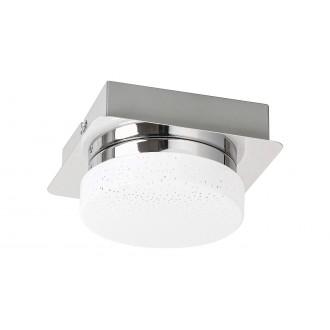 RABALUX 5661 | Hilary Rabalux stenové, stropné svietidlo 1x LED 400lm 4000K chróm, opál, kryštálový efekt