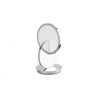 RABALUX 5669 | Assana Rabalux stolové svietidlo 28cm prepínač na vedení 1x LED 380lm 3000K chróm, opál