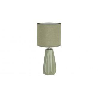 RABALUX 5703 | Amiel Rabalux stolové svietidlo 43cm prepínač 1x E27 zelená, chróm