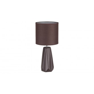RABALUX 5704 | Amiel Rabalux stolové svietidlo 43cm prepínač 1x E27 hnedá, chróm