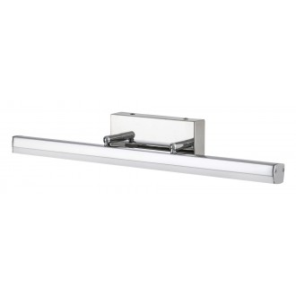 RABALUX 5727 | SilasR Rabalux osvetleni zrkadla svietidlo otočné prvky 1x LED 1700lm 4000K IP44 chróm, biela