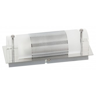 RABALUX 5800 | Periodic Rabalux stenové, stropné svietidlo 1x E14 chróm, priesvitné, biela