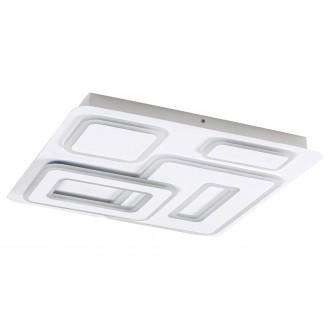 RABALUX 5859 | Montelle Rabalux stropné svietidlo štvorec diaľkový ovládač regulovateľná intenzita svetla, nastaviteľná farebná teplota 1x LED 2393lm 2700 <-> 5500K matný biely