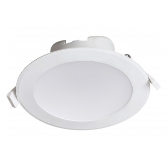 RABALUX 5900 | Christopher Rabalux zabudovateľné svietidlo Ø145mm 145x145mm 1x LED 1330lm 4000K IP44/20 biela