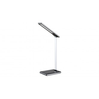 RABALUX 6019 | Sheldon-RA Rabalux stolové svietidlo 43cm dotykový prepínač s reguláciou svetla regulovateľná intenzita svetla, nastaviteľná farebná teplota, USB prijímač, nabíjačka na telefón, nabíjačka na mobil, otočné prvky 1x LED 220lm 2700 <-> 6