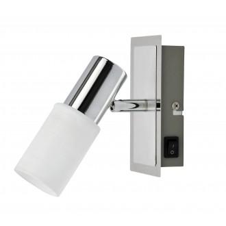 RABALUX 6096   Logan Rabalux spot svietidlo prepínač otáčateľný svetelný zdroj 1x E14 chróm, biela