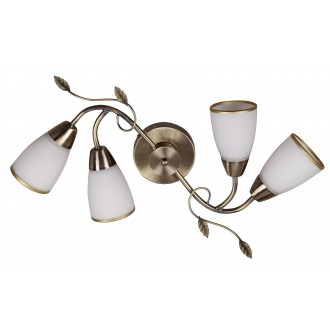 RABALUX 6145 | Dreambells Rabalux stenové, stropné svietidlo 4x E14 bronzová, biela