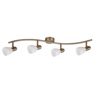 RABALUX 6309 | Soma2 Rabalux spot svietidlo otočné prvky 4x E14 bronzová, biela