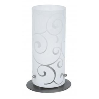 RABALUX 6393 | Harmony-lux1 Rabalux stolové svietidlo 24,5cm prepínač na vedení 1x E27 saténový, chróm, opál