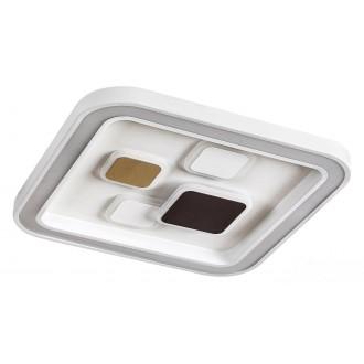 RABALUX 6475 | Hollis Rabalux stropné svietidlo štvoruholník diaľkový ovládač regulovateľná intenzita svetla, nastaviteľná farebná teplota 1x LED 2400lm 3000 <-> 6000K biela, zlatý, kávová