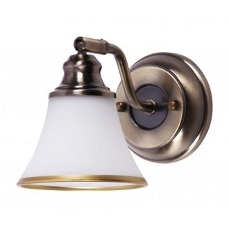 RABALUX 6545 | Grando Rabalux rameno stenové svietidlo otočné prvky 1x E14 / R50 bronzová, biela