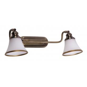 RABALUX 6546 | Grando Rabalux rameno stenové svietidlo otočné prvky 2x E14 / R50 bronzová, biela