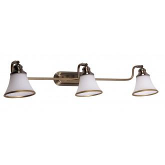 RABALUX 6547 | Grando Rabalux rameno stenové svietidlo otočné prvky 3x E14 / R50 bronzová, biela