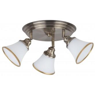 RABALUX 6548 | Grando Rabalux stropné svietidlo otočné prvky 3x E14 / R50 bronzová, biela