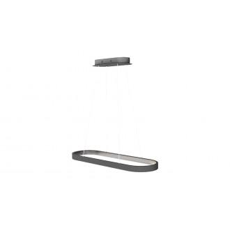 RABALUX 6679 | Athos Rabalux visiace svietidlo 1x LED 4854lm 4000K sivé, biela
