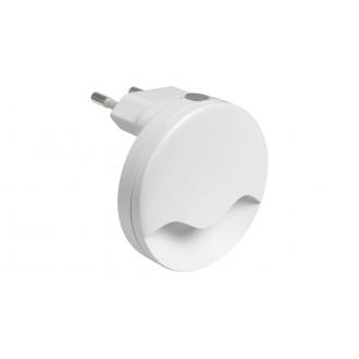 RABALUX 6709 | Lily-RA Rabalux nočné svetlo svietidlo svetelný senzor - súmrakový spínač konektorové svietidlo 1x LED 15lm 3000K biela