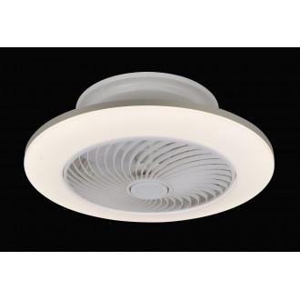 RABALUX 6710 | Dalfon Rabalux stropné svietidlo s ventilátorom kruhový diaľkový ovládač regulovateľná intenzita svetla, nastaviteľná farebná teplota, časový spínač 1x LED 2100lm 3000 <-> 6000K biela