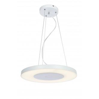 RABALUX 6879 | Milton-RA Rabalux visiace svietidlo kruhový diaľkový ovládač regulovateľná intenzita svetla 1x LED 2000lm 4000K biela, opál