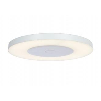 RABALUX 6880 | Milton-RA Rabalux stropné svietidlo kruhový diaľkový ovládač regulovateľná intenzita svetla 1x LED 2000lm 4000K biela, opál