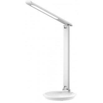 RABALUX 6979 | Osias Rabalux stolové svietidlo 39,1cm dotykový prepínač s reguláciou svetla regulovateľná intenzita svetla, nastaviteľná farebná teplota 1x LED 400lm 2700 <-> 6500K biela