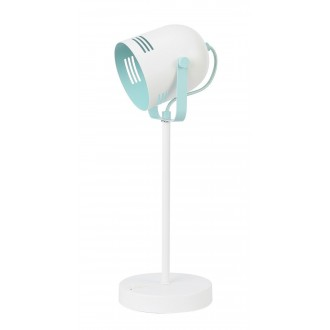 RABALUX 7015 | Minuet Rabalux stolové svietidlo 40cm prepínač otočné prvky 1x E14 biela, mäta