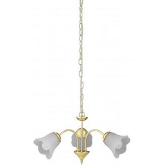 RABALUX 7233 | Rafaella Rabalux luster svietidlo 3x E14 zlatý, biela