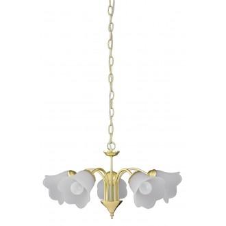 RABALUX 7235 | Rafaella Rabalux luster svietidlo 5x E14 zlatý, biela