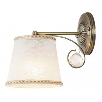 RABALUX 7290 | Valerie Rabalux rameno stenové svietidlo 1x E14 bronzová, biela, priesvitné
