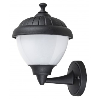 RABALUX 7672 | Modesto_RA Rabalux rameno stenové svietidlo 1x E27 IP44 UV čierna, biela