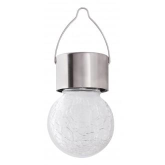 RABALUX 7850 | Yola-RA Rabalux náladové osvetlenie svietidlo slnečné kolektorové / solárne, meniace farbu 1x LED RGBK IP44 satén chróm