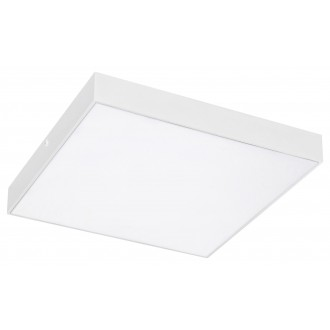 RABALUX 7895 | Tartu Rabalux stropné svietidlo štvorec nastaviteľná farebná teplota 1x LED 1800lm 2800 - 4000 - 6000K IP44 matný biely, biela