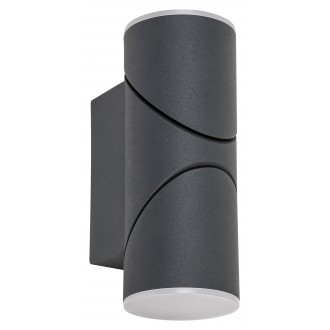 RABALUX 7904 | Belfast Rabalux rameno stenové svietidlo otočné prvky 1x LED 620lm 3000K IP65 antracit, biela