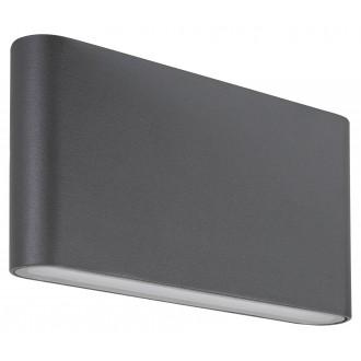 RABALUX 7952 | Nesna Rabalux stenové svietidlo 2x LED 528lm 3000K IP54 antracitová sivá