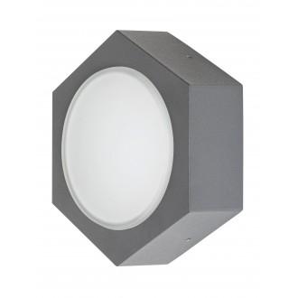 RABALUX 7964   Avola Rabalux stenové svietidlo 1x LED 680lm 3000K IP54 antracitová sivá, biela