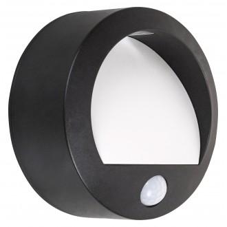 RABALUX 7969 | Amarillo Rabalux stenové svietidlo pohybový senzor batérie/akumulátorové 1x LED 50lm 3000K IP44 čierna