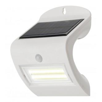 RABALUX 7970 | Opava Rabalux stenové svietidlo pohybový senzor slnečné kolektorové / solárne 1x LED 115lm 4000K IP44 biela