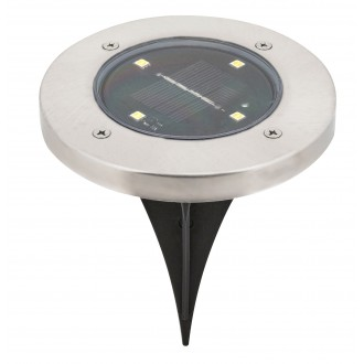 RABALUX 7975 | Dannet Rabalux zapichovacie svietidlo slnečné kolektorové / solárne 1x LED 4lm 3000K IP44 satén chróm