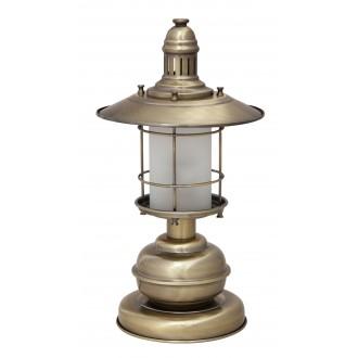 RABALUX 7992 | Sudan Rabalux stolové svietidlo 42cm prepínač na vedení 1x E27 bronzová, biela