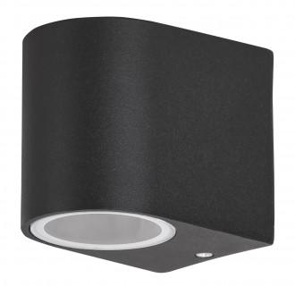 RABALUX 8029 | Chile Rabalux stenové svietidlo 1x GU10 IP44 čierna