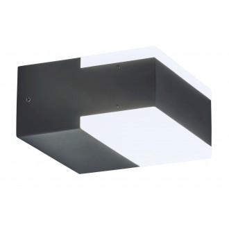 RABALUX 8060 | Bona Rabalux stenové svietidlo 2x LED 678lm 4000K IP54 UV antracit, biela