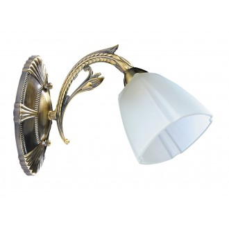 RABALUX 8063   Anka Rabalux rameno stenové svietidlo 1x E27 antická bronzováová, biela