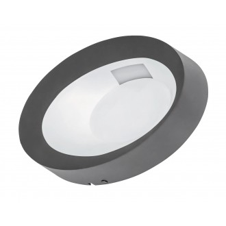 RABALUX 8079 | Bangkok Rabalux stenové svietidlo 1x LED 480lm 4500K IP54 antracit, biela