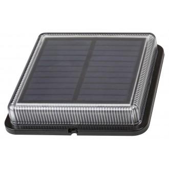 RABALUX 8104 | Bilbao_RA Rabalux dekor slnečné kolektorové / solárne svietidlo svetelný senzor - súmrakový spínač batérie/akumulátorové 1x LED 4000K IP67 čierna, priesvitné