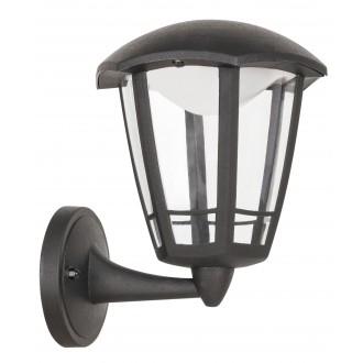 RABALUX 8126 | Sorrento Rabalux rameno stenové svietidlo 1x LED 500lm 3000K IP44 UV matná čierna, priesvitné