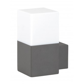 RABALUX 8138   Dover Rabalux rameno stenové svietidlo 1x E27 IP54 UV antracitová sivá, biela