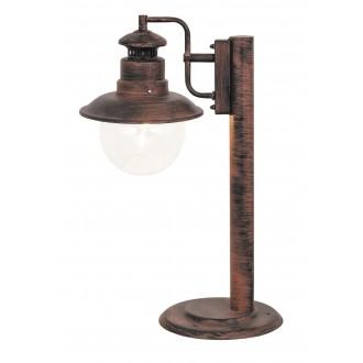 RABALUX 8165 | Odessa Rabalux stojaté svietidlo 53,5cm 1x E27 IP44 UV antické hnedé, priesvitné